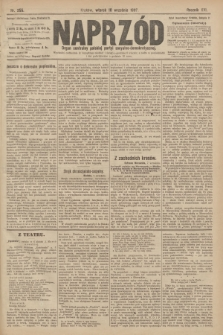 Naprzód : organ centralny polskiej partyi socyalno-demokratycznej. 1907, nr255