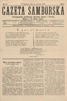 Gazeta Samborska : dwutygodnik poświęcony sprawom miasta iobwodu. 1895, nr17