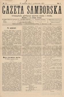 Gazeta Samborska : dwutygodnik poświęcony sprawom miasta iobwodu. 1895, nr18