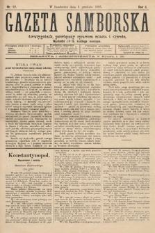 Gazeta Samborska : dwutygodnik poświęcony sprawom miasta iobwodu. 1895, nr22