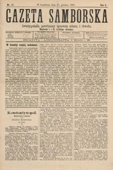 Gazeta Samborska : dwutygodnik poświęcony sprawom miasta iobwodu. 1895, nr23