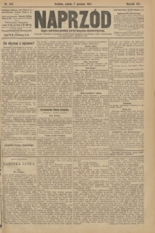 Naprzód : organ centralny polskiej partyi socyalno-demokratycznej. 1907, nr343