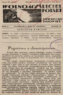 Wolnomyśliciel Polski. 1933, nr 20