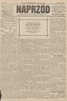 Naprzód : organ polskiej partyi socyalno-demokratycznej. 1904, nr177