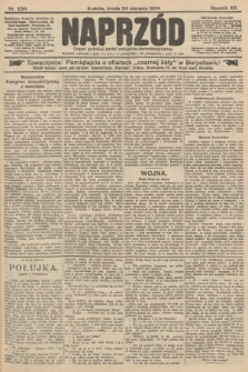 Naprzód : organ polskiej partyi socyalno-demokratycznej. 1904, nr234