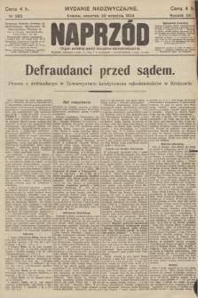 Naprzód : organ polskiej partyi socyalno-demokratycznej. 1904, nr263 (Wydanie Nadzwyczajne)