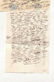 Notizen Humboldts zum Vulkanismus auf Brieffragment