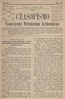 Czasopismo Towarzystwa Technicznego Krakowskiego. 1896, nr12