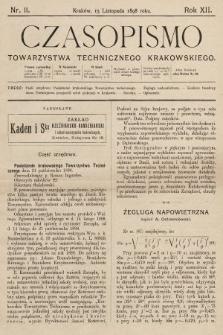 Czasopismo Towarzystwa Technicznego Krakowskiego. 1898, nr11