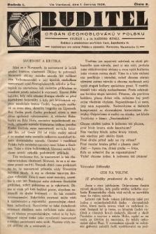Buditel : orgán Čechoslováků v Polsku. 1928, č.2