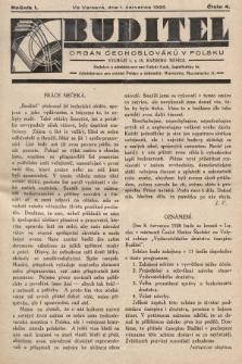 Buditel : orgán Čechoslováků v Polsku. 1928, č.4