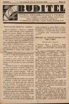 Buditel : orgán Čechoslováků v Polsku. 1928, č.5