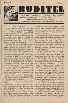 Buditel : orgán Čechoslováků v Polsku. 1928, č.7