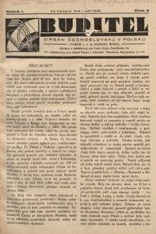 Buditel : orgán Čechoslováků v Polsku. 1928, č.8