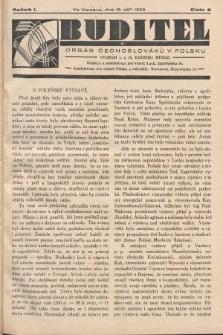 Buditel : orgán Čechoslováků v Polsku. 1928, č.9