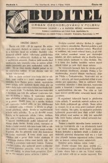 Buditel : orgán Čechoslováků v Polsku. 1928, č.10
