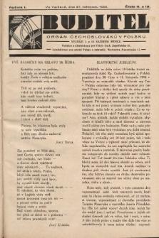 Buditel : orgán Čechoslováků v Polsku. 1928, č.11 a 12
