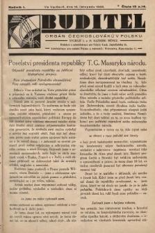 Buditel : orgán Čechoslováků v Polsku. 1928, č.13 a 14