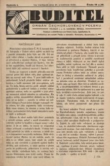 Buditel : orgán Čechoslováků v Polsku. 1928, č.15 a 16
