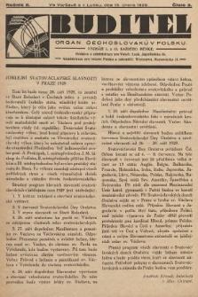 Buditel : orgán Čechoslováků v Polsku. 1929, č.3
