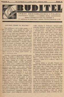 Buditel : orgán Čechoslováků v Polsku. 1929, č.4
