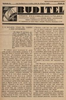 Buditel : orgán Čechoslováků v Polsku. 1929, č.5