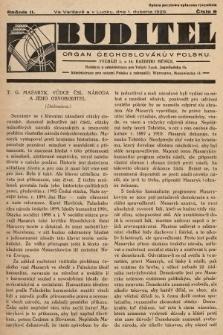 Buditel : orgán Čechoslováků v Polsku. 1929, č.6