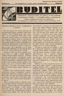 Buditel : orgán Čechoslováků v Polsku. 1929, č.8