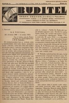 Buditel : orgán Čechoslováků v Polsku. 1929, č.9