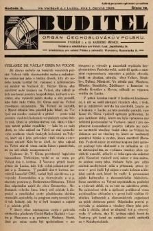 Buditel : orgán Čechoslováků v Polsku. 1929, č.10