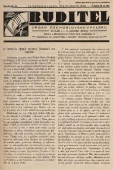 Buditel : orgán Čechoslováků v Polsku. 1929, č.11 a 12