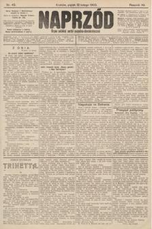 Naprzód : organ polskiej partyi socyalno-demokratycznej. 1903, nr43