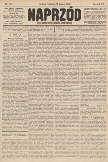 Naprzód : organ polskiej partyi socyalno-demokratycznej. 1903, nr45