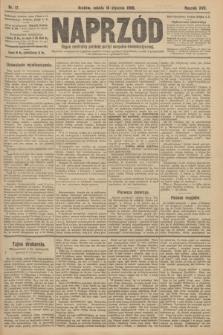 Naprzód : organ centralny polskiej partyi socyalno-demokratycznej. 1908, nr17