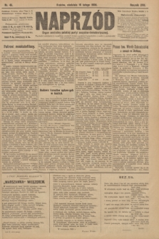 Naprzód : organ centralny polskiej partyi socyalno-demokratycznej. 1908, nr46