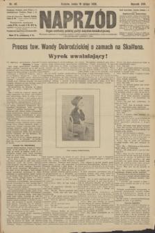 Naprzód : organ centralny polskiej partyi socyalno-demokratycznej. 1908, nr49