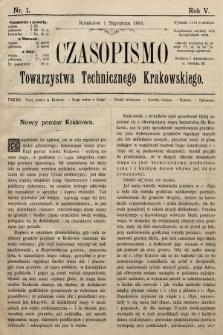 Czasopismo Towarzystwa Technicznego Krakowskiego. 1891 [całość]