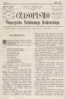 Czasopismo Towarzystwa Technicznego Krakowskiego. 1892 [całość]