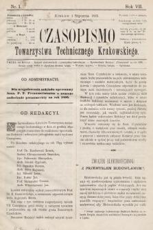 Czasopismo Towarzystwa Technicznego Krakowskiego. 1893 [całość]