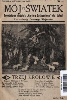 """Mój Światek : tygodniowy dodatek """"Kurjera Zachodniego"""" dla dzieci. 1935, nr21"""