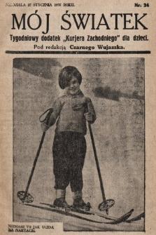 """Mój Światek : tygodniowy dodatek """"Kurjera Zachodniego"""" dla dzieci. 1935, nr24"""