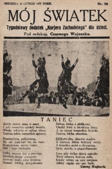"""Mój Światek : tygodniowy dodatek """"Kurjera Zachodniego"""" dla dzieci. 1935, nr26"""