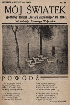 """Mój Światek : tygodniowy dodatek """"Kurjera Zachodniego"""" dla dzieci. 1935, nr28"""