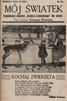 """Mój Światek : tygodniowy dodatek """"Kurjera Zachodniego"""" dla dzieci. 1935, nr38"""