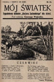 """Mój Światek : tygodniowy dodatek """"Kurjera Zachodniego"""" dla dzieci. 1935, nr42"""