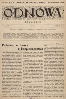 Odnowa. 1937, nr2