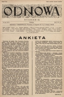 Odnowa. 1937, nr11