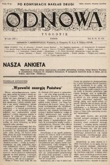 Odnowa. 1937, nr13 (drugi nakład po konfiskacie)