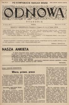 Odnowa. 1937, nr19 (drugi nakład po konfiskacie)