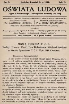 Oświata Ludowa : organ Krakowskiego Towarzystwa Oświaty Ludowej. 1911, nr2